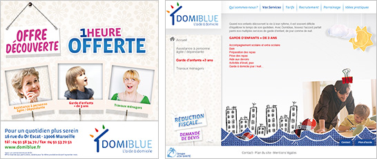 Domiblue Promo et site internet